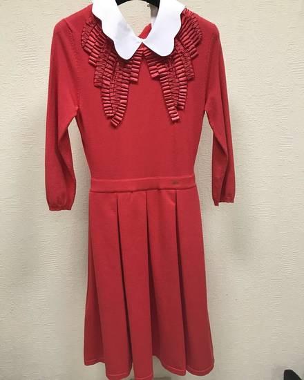 Платье elisabetta franchi красное с синим